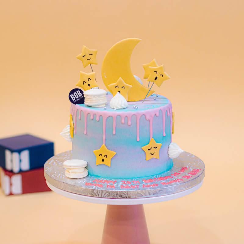 Stars and Moon Rainbow Paddlepop Cake