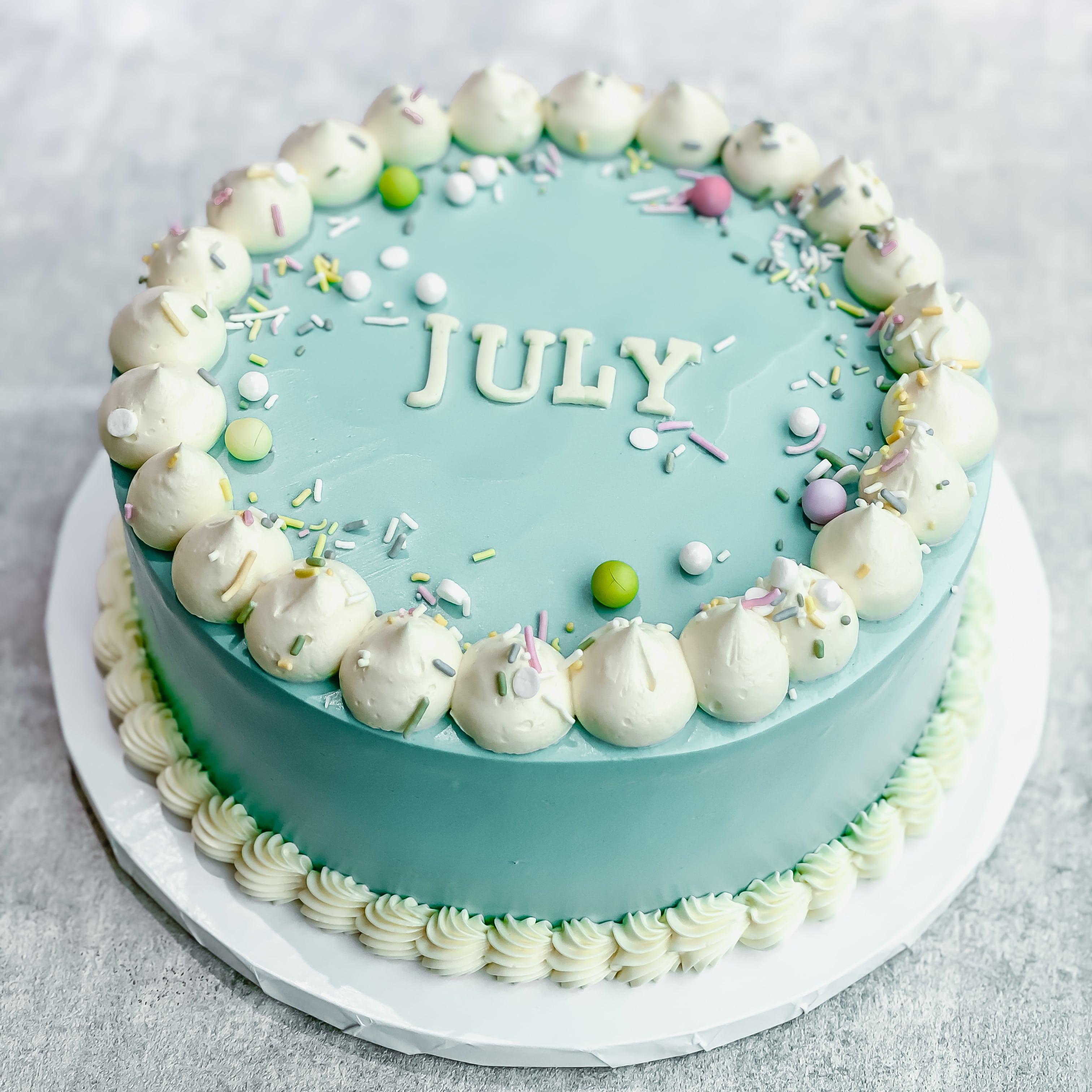 Korean Lettering Cake - Birthday Month