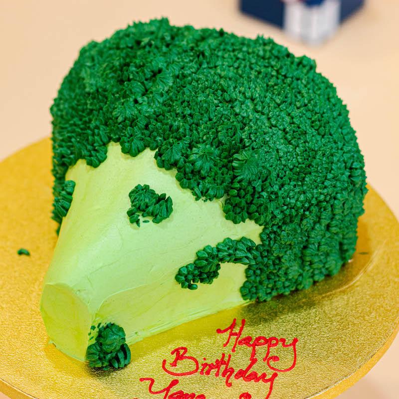 3D Broccoli Cake