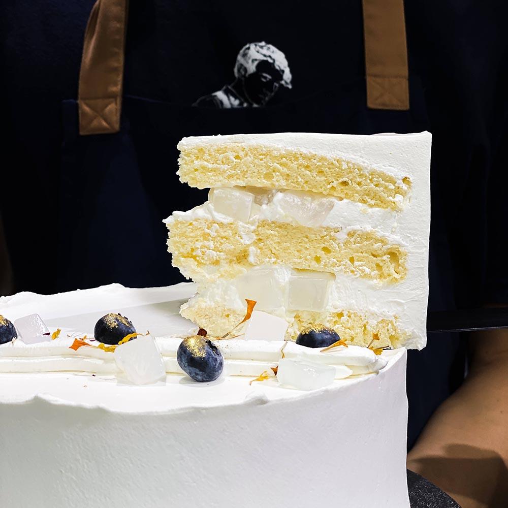 Honey Yuzu and Nata De Coco Cake