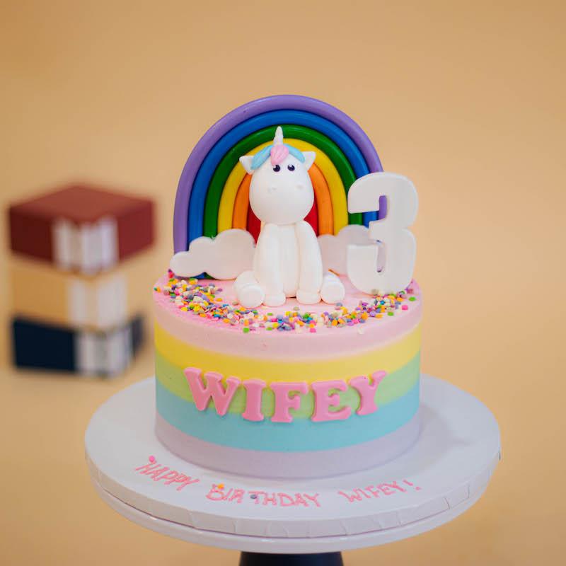 Magical Unicorn Pastel Rainbow Cake