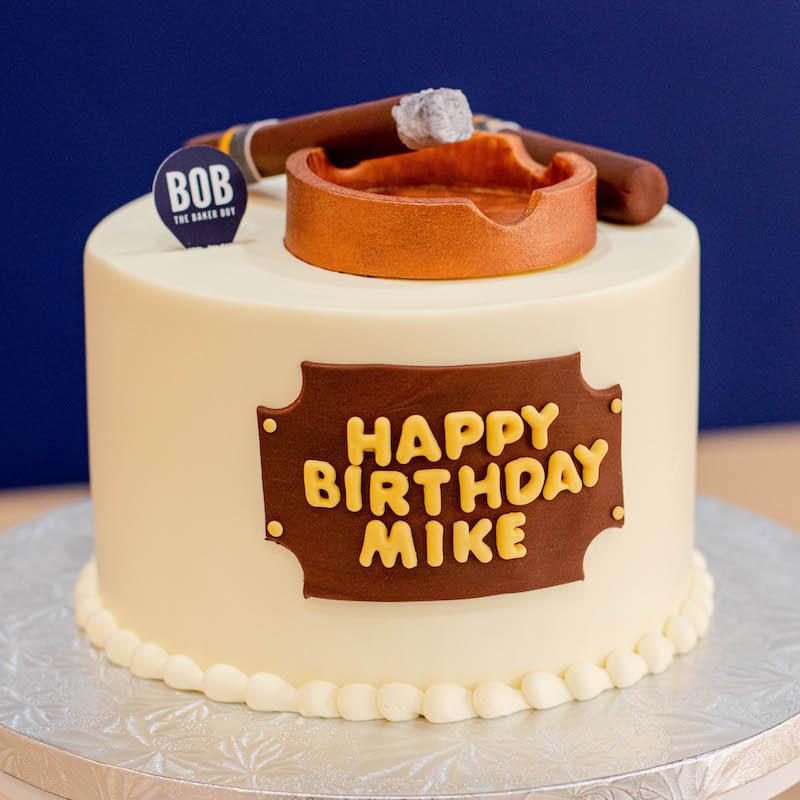 Cigarettes and Ashtray Birthday Cake