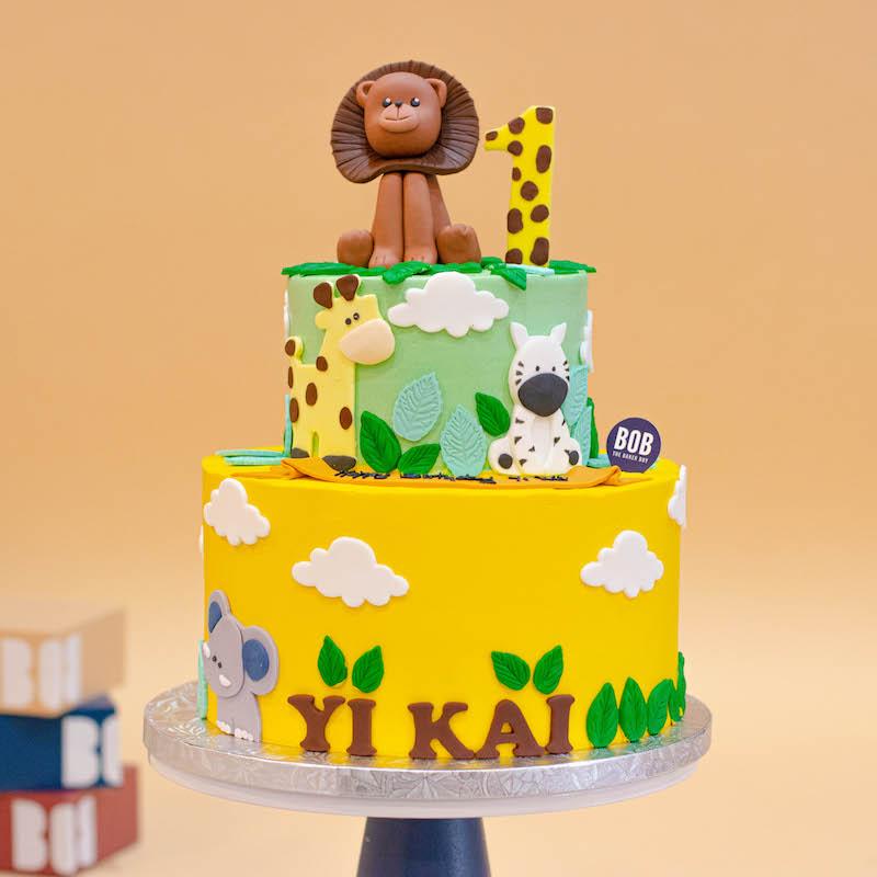 Wild Animals Safari Jungle Cake
