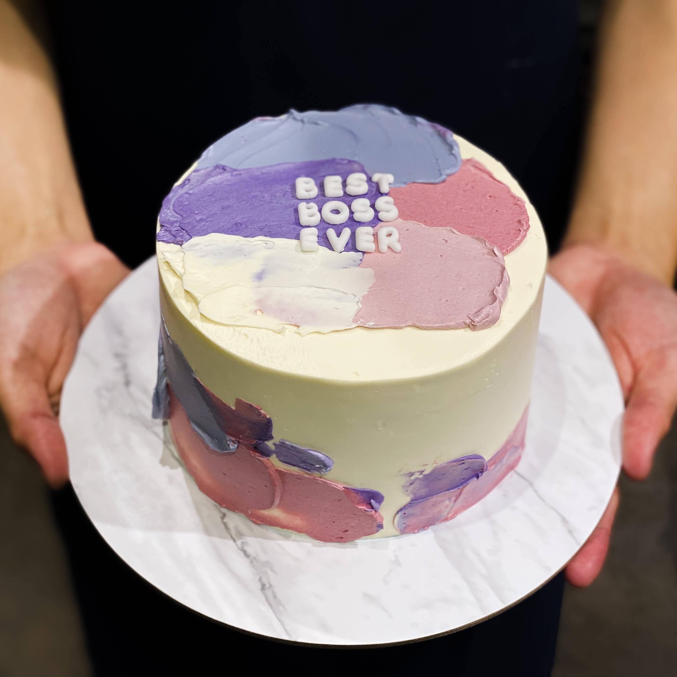 Sensational Customised Korean Cakes Singapore Bob The Baker Boy Funny Birthday Cards Online Elaedamsfinfo