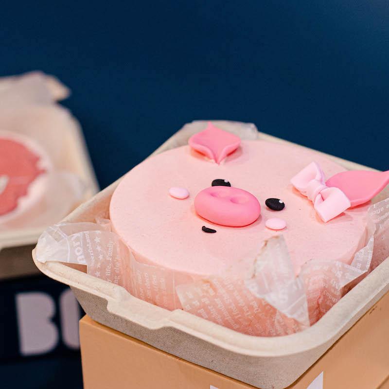 Cute Pig Cake (Korean Bento Cake)