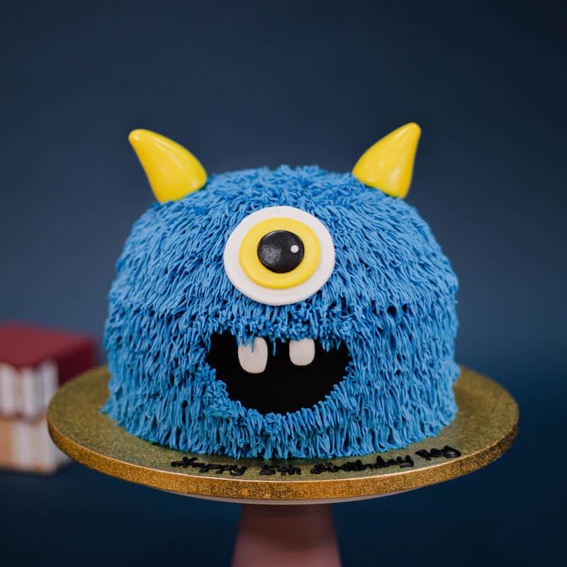 Little Cheeky 3D Monster Cake in Blue