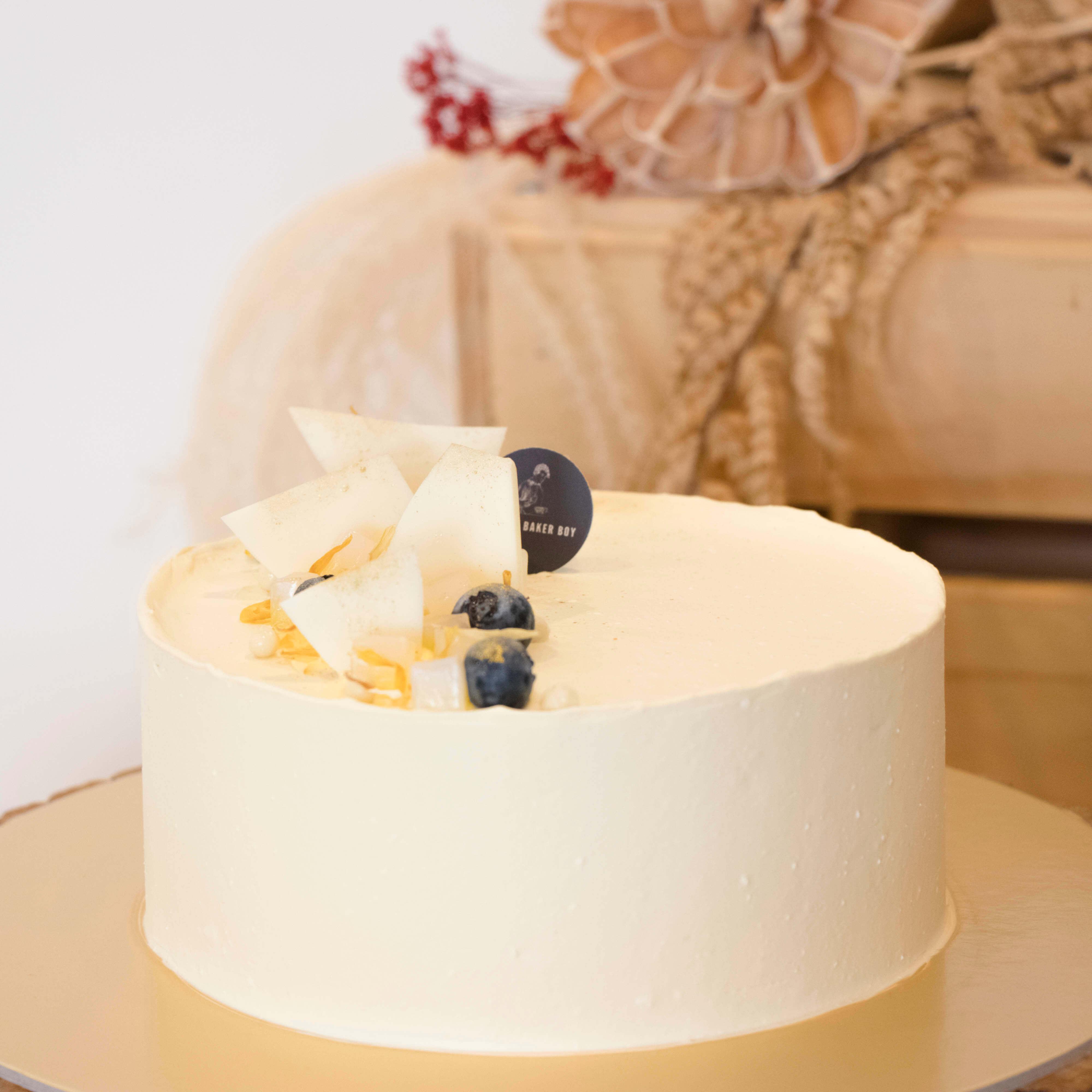 Tropical Mango Pudding Cake with Nata De Coco