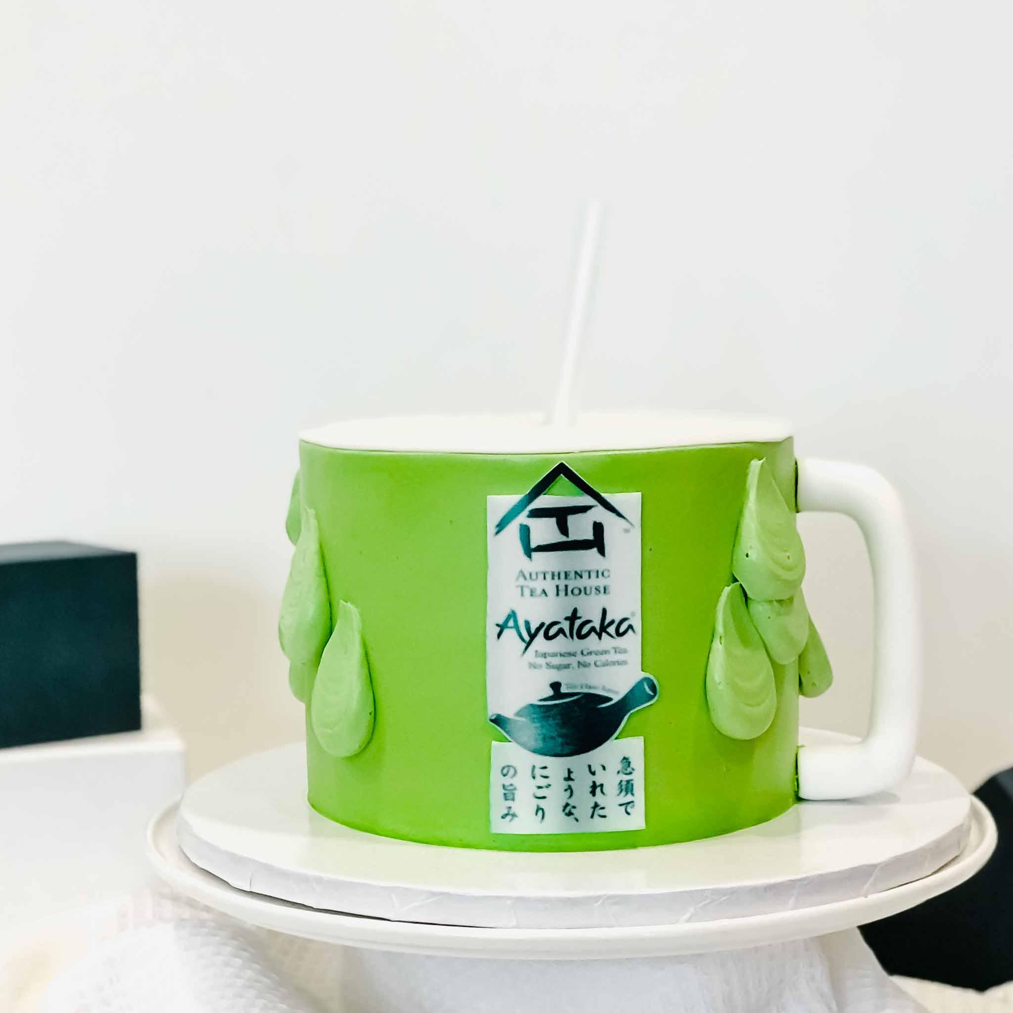 Drinkable Green Tea Mug Surprise Cake