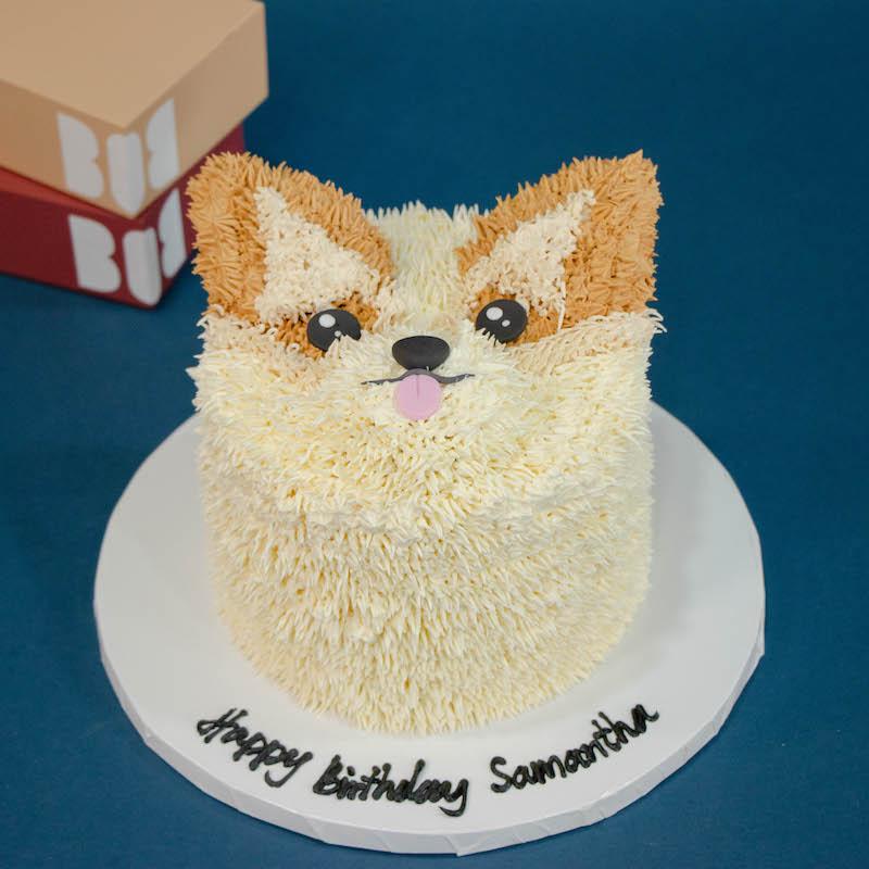 3D Corgi Cake