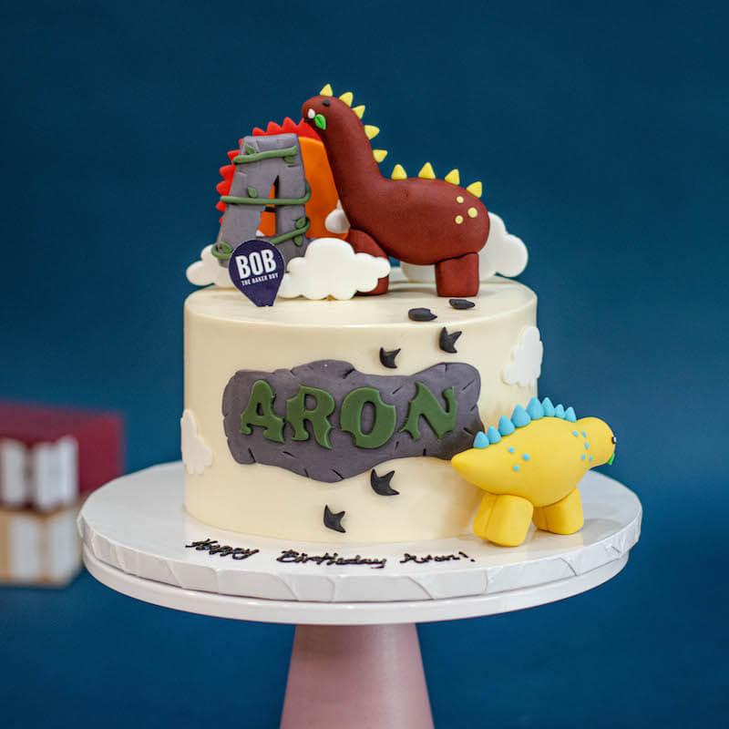 Long Long Ago Cute Dinosaur Cake
