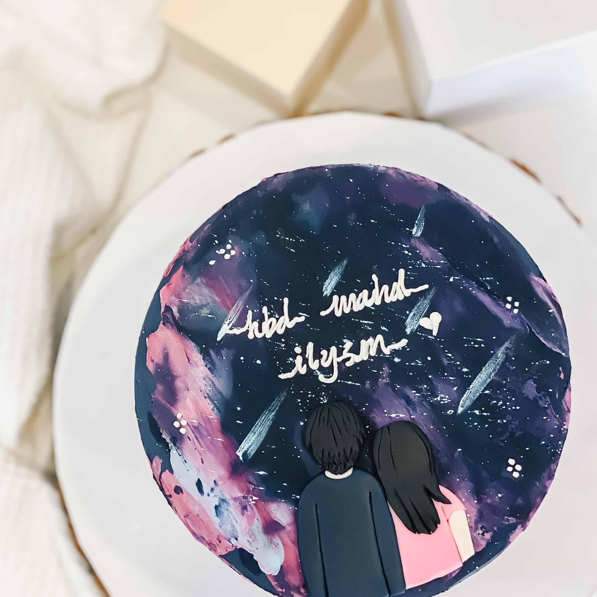 Shooting Stars Romantic Korean Cake