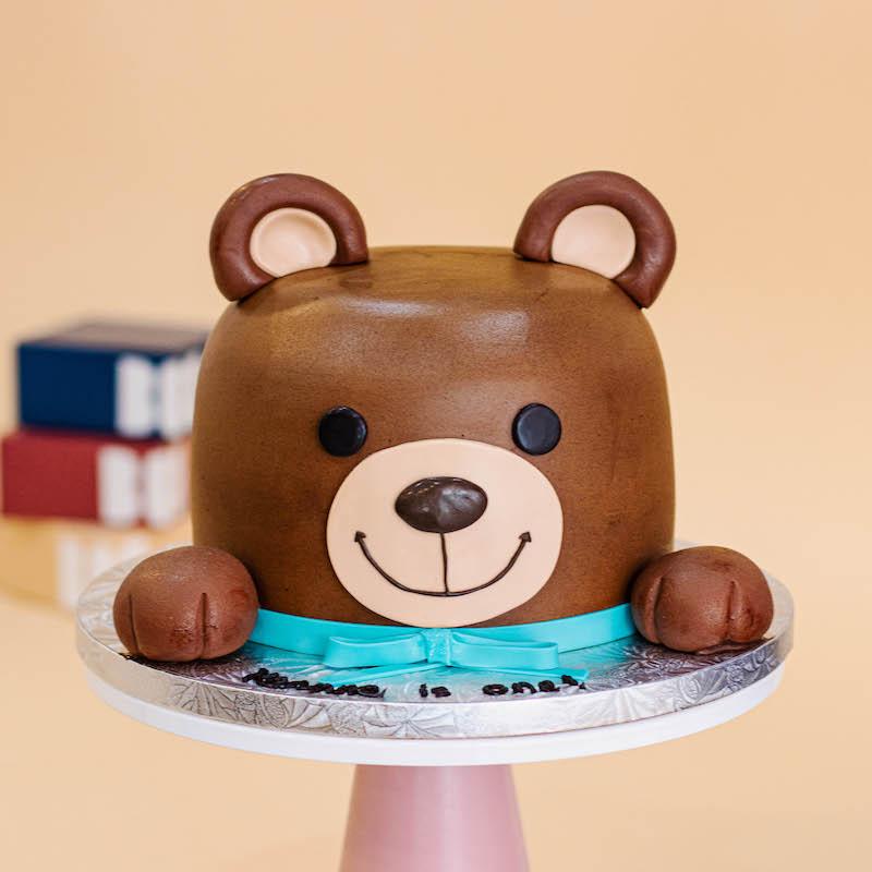 3D Baby Teddy Bear Cake
